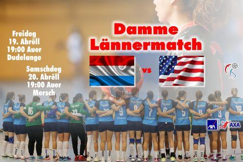 Damme Lännermatcher Lëtzebuerg - USA / Gewannt är gratis Entrées Ticketen
