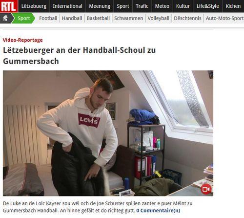 E flotte Reportage op RTL iwwert eis jonk rout Léiwen an den Handballsschoulen