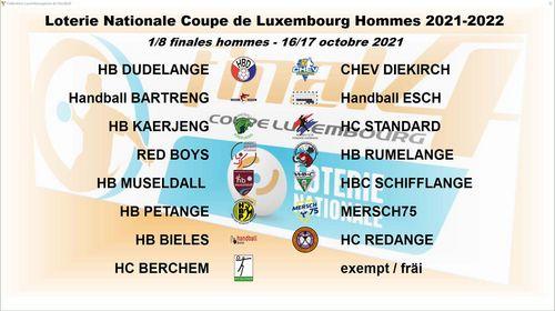 Tirage vun der Loterie Nationale Coupe de Luxembourg bei de Fraen a bei de Männer