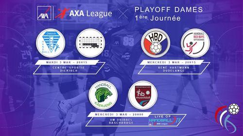 1. Spilldag an der AXA League Dammen am Titel Playoff