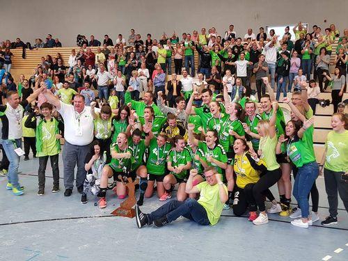 Den HB Käerjeng Champion vu Lëtzebuerg 2017-2018 bei den Dammen