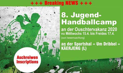 8. HBK Jugend-Handballcamp 2020