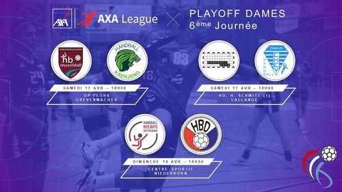 Dëse Weekend : 6. Spilldag am Playoff AXA League Dammen
