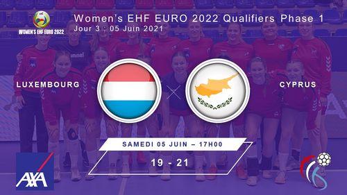 Women's EHF Euro2022 Quali R1 am Kosovo : Lëtzebuerg - Zypern 19 : 21  (9:9)
