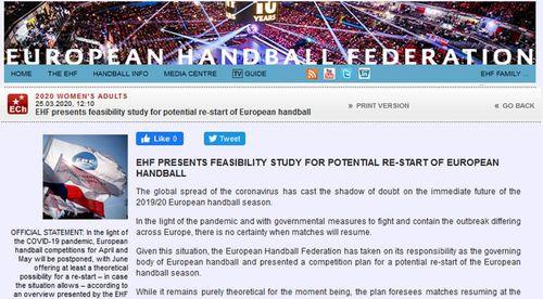 Communiqué EHF