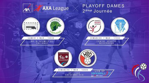 Dëse Weekend : 2. Spilldag am Playoff AXA League Dammen