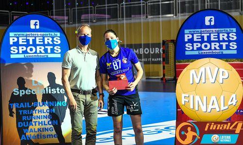 Fiona COLARELLI-CARRARA MVP bei der Damme-Finall vun der Loterie Nationale Coupe de Luxembourg