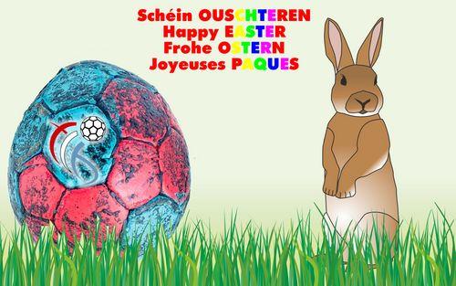 d'Handballfederatioun wënscht Iech all schéin Ouschteren !