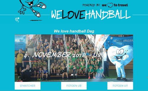 Fotoe vum We love handball Dag an der Coque (4.11.2018)