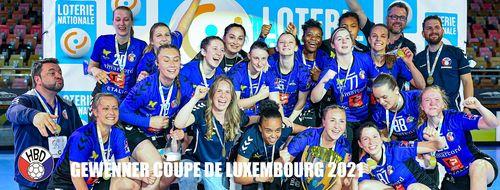 HB Diddeleng heescht de Gewënner vun der Loterie Nationale Coupe de Luxembourg 2021