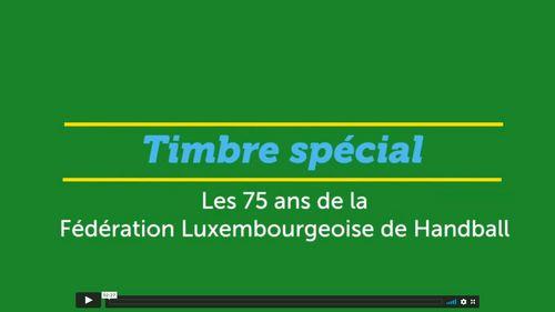 Een Timber fir 75 Joer Lëtzebuerger Handball Federatioun