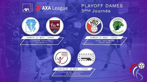 Dëse Weekend : 3. Spilldag am Playoff AXA League Dammen