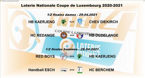 Tirage vun den Hallef-Finalle vun der Loterie Nationale Coupe de Luxembourg