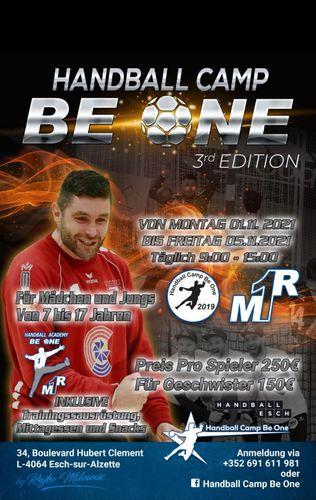 """Drëtt Editioun vum Handball Camp """"Be One"""" zu Esch"""
