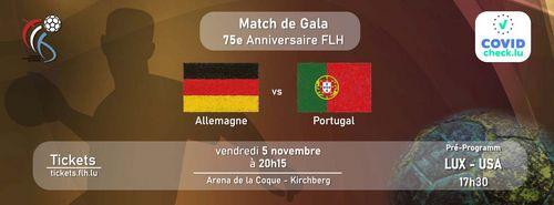 GALA MATCH 75 JOER FLH : Däitschland - Portugal