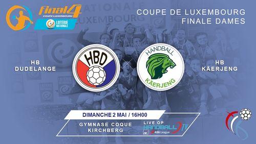 FINAL4 Loterie Nationale Coupe de Luxembourg Dammen - am LIVESTREAM dëse Sonndeg ab 15h45 Auer