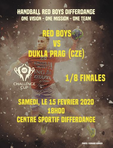 EHF Challenge Cup : Red Boys - HC Dukla Praha