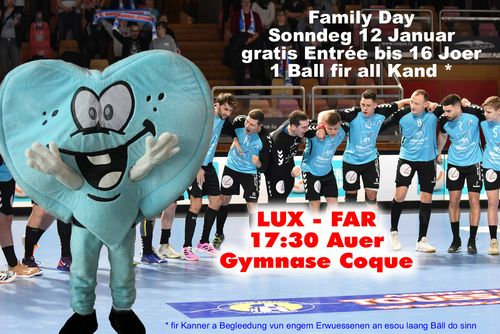 WM Quali an der Coque - Muer Sonndeg ass Familljen Dag ! (Lux - Far)