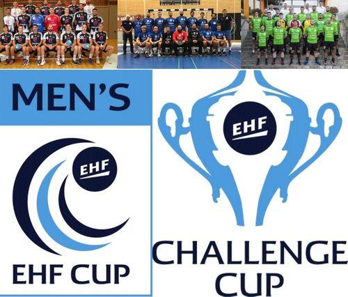Dëse Weekend stinn d'Retourmatcher vum EHF Cup a vum Challenge Cup um Programm.