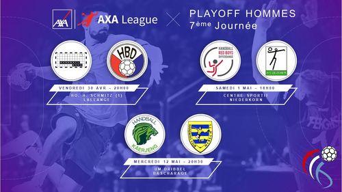 Haut a Muer : 2 Matcher vum 7. Spilldag am Playoff AXA League Hären